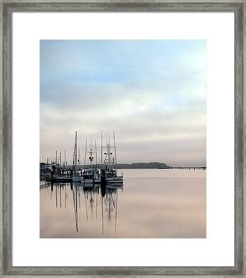 Framed Print featuring the photograph Boardwalk Boats by Suzy Piatt