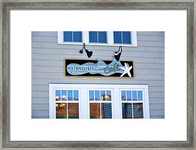 Boardwalk Cafe Framed Print