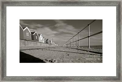 Boardwalk Framed Print by David Warrington