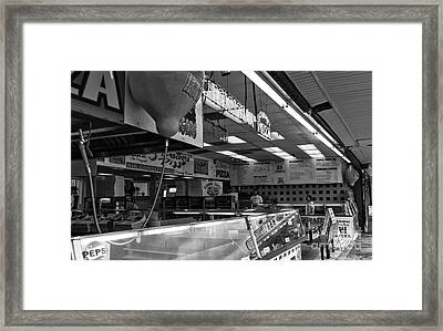 Boardwalk Dining At Three Brothers Mono Framed Print by John Rizzuto