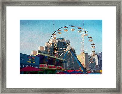 Boardwalk Ferris  Framed Print by Alice Gipson