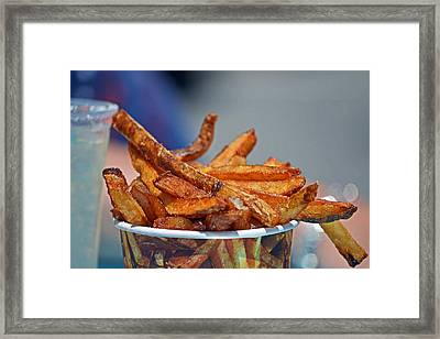 French Fries On The Boards Framed Print