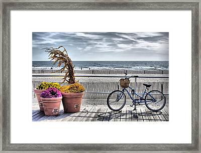 Boardwalk    Hdr Framed Print by Thomas  MacPherson Jr