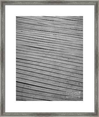 Framed Print featuring the photograph Boardwalk by Kristen Fox