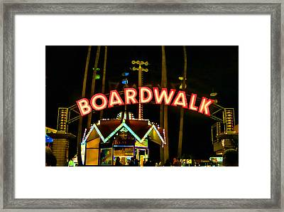 Boardwalk Framed Print by Digital Kulprits