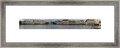 Framed Print featuring the photograph Boardwalk Panorama Walt Disney World by Thomas Woolworth