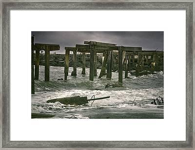 Boardwalk Remnants Framed Print