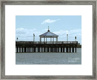 Framed Print featuring the photograph Boardwalk by Roseann Errigo