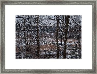 Framed Print featuring the photograph Boardwalk Series No3 by Bianca Nadeau