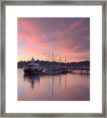 Boardwalk Sunrise Framed Print