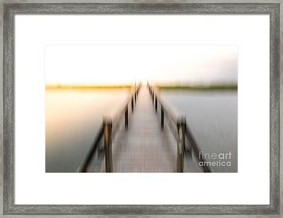 Boardwalk Framed Print by Susan Cole Kelly Impressions