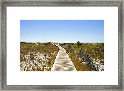 Boardwalk Framed Print by Susan Leggett