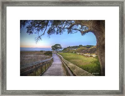Boardwalk To History Framed Print by Phil Mancuso