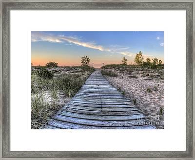 Boardwalk To The Beach Framed Print