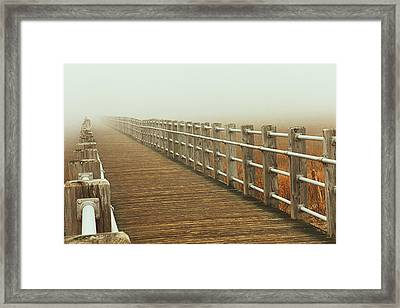 Boardwalk To The Unknown Framed Print by Karol Livote