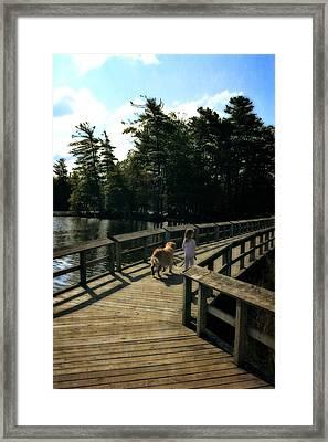 Boardwalking Framed Print by Michelle Calkins