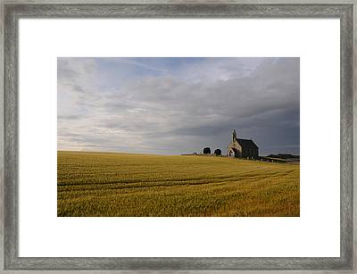 Boarhills Church Framed Print by Jeremy Voisey