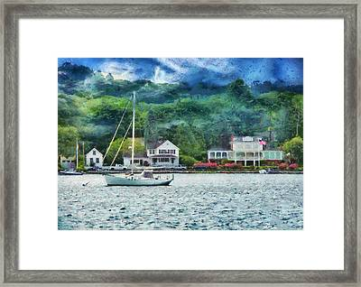 Boat - A Good Day To Sail Framed Print by Mike Savad