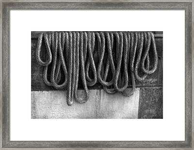 Boat - Abstract - Fit To Be Tied Framed Print by Mike Savad