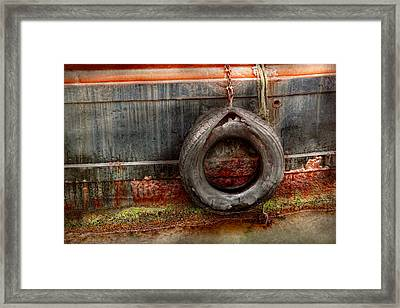 Boat - Abstract - It Was A Good Year Framed Print by Mike Savad