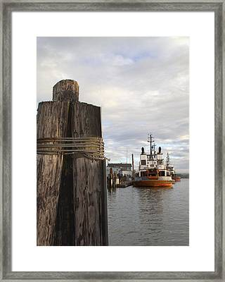 View From The Pilings Framed Print by Suzy Piatt