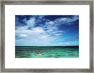 Boat And Sea Framed Print by Thomas R Fletcher