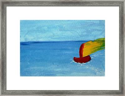 Boat Framed Print by Anna Mihaylova