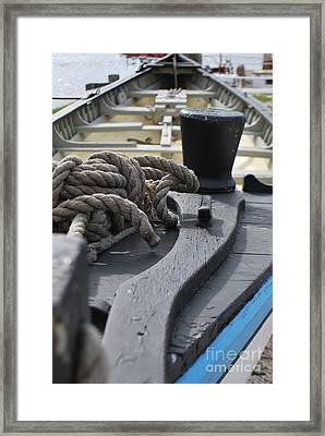 Boat At Mystic Seaport Framed Print