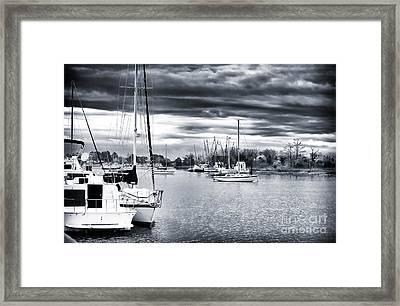 Boat Blues Framed Print by John Rizzuto