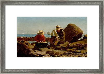 Boat Builders Framed Print by Philip Ralley