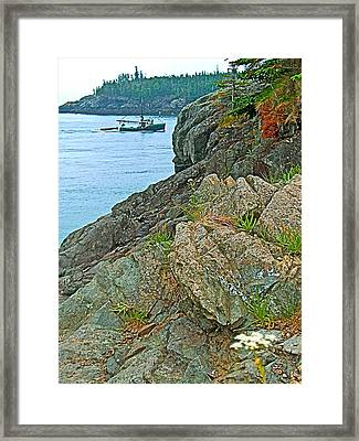 Boat By East Quoddy Bay On Campobello Island-nb Framed Print