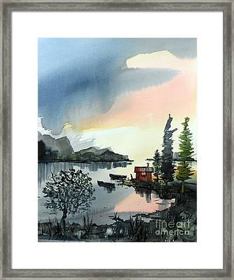 Boat Camp Framed Print