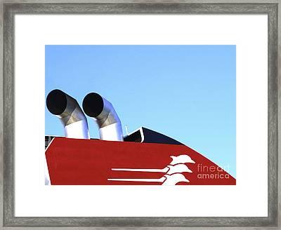 Boat Chimneys Framed Print by Eleni Mac Synodinos