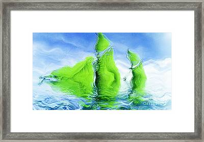 Sea Boat Collections - Naufrage - F11b03 Framed Print