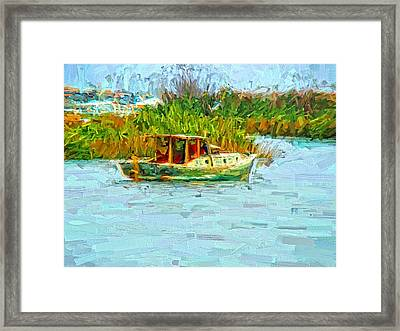 Boat Colors Framed Print by Alice Gipson