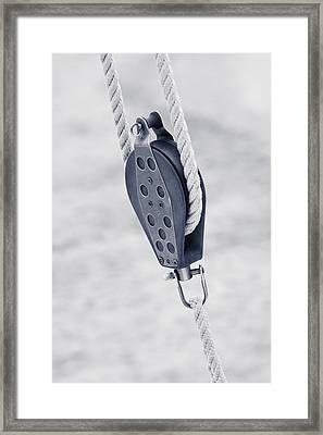 Boat Detail Framed Print by Frank Tschakert