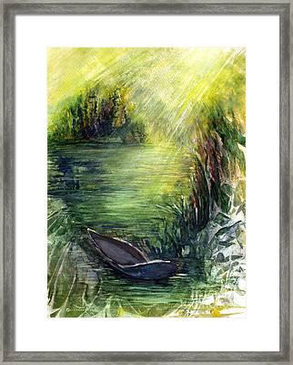 Boat Dock Framed Print