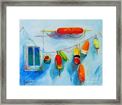 Colorful Buoys 2 Framed Print