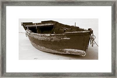 Boat Framed Print by Frank Tschakert