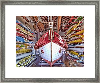 Boat Frenzy Framed Print by Pauline Flesseman