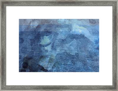 Boat From Afar Framed Print