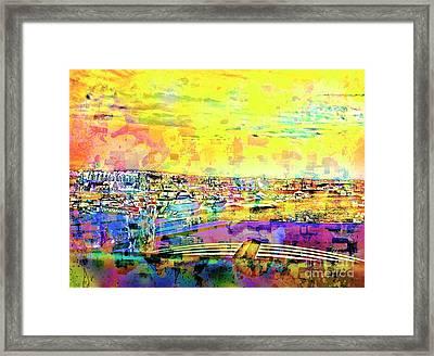 Boat Harbor Framed Print