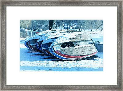 Boat Hire On Holiday Framed Print by Jutta Maria Pusl