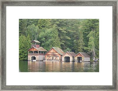 Framed Print featuring the photograph Boat House by George Mount