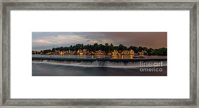 Boathouse Row 2  Framed Print by Abe Pacana