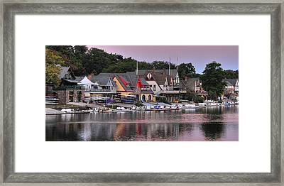 Boat House Row 2 Framed Print