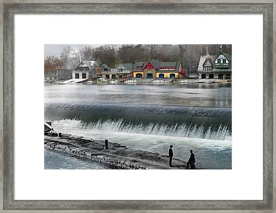 Boat House Row Framed Print by Eric Nagy
