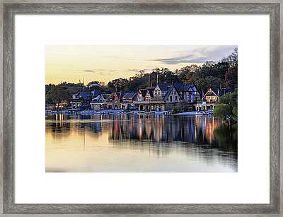 Boat House Row In Philadelphia  Framed Print