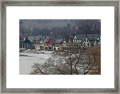 Philadelphia's Boat House Row  Framed Print by Cindy Manero