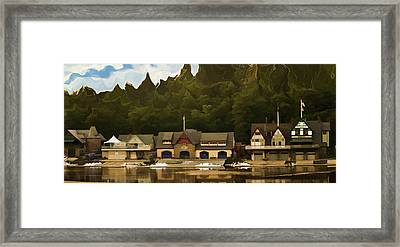 Boat House Row Framed Print by Trish Tritz